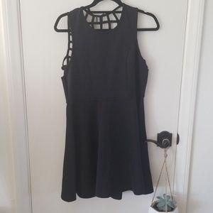 Poof apparel juniors black cocktail dress